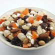 Tropical Trail Mix Bowl — Stock Photo