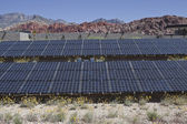 Large solar array on US federal parkland. — Stock Photo