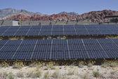 Stora solcellspaneler på oss federala parkområde. — Stockfoto