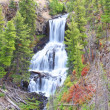Undine Falls in Yellowstone — Stock Photo
