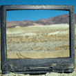 Abandoned Television — Stock Photo