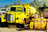 Yellow Water Truck — Stock Photo