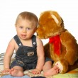 Stock Photo: Boy with Teddy Bear