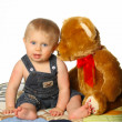 Foto Stock: Boy with Teddy Bear