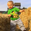 Young Boy with Straw — Stockfoto #7934485