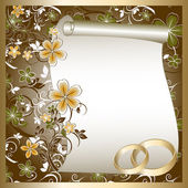 Wedding card — Stock Vector