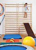A child in the gym — Stock Photo