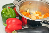 Vegetables in the pan — Stock Photo