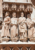 The figures of saints in the Catholic cathedral. — Stock Photo