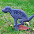 No dog fouling sign — Stock Photo