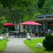 Stock Photo: Outdoor cafe in park. Europe, Germany, Baden-Baden.
