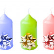 Colored candles, isolated on a white background. — Stock Photo