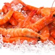 Prawns on Ice — Stock Photo #7945223