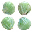 Cabbage isolated on a white background. — Stock Photo