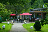 Outdoor cafe in the park. Europe, Germany, Baden-Baden. — Stock Photo