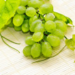 Stock Photo: Bunch of white grapes with drops of dew