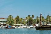 Yacht Club on the coast — Stock Photo