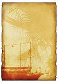 Grunge moře pozadí. s prostorem pro text z obrázku. — Stock fotografie