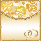 Wedding card with a floral pattern and place for text — Stock Vector