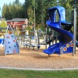Playground in a calm residential area — Stock Photo
