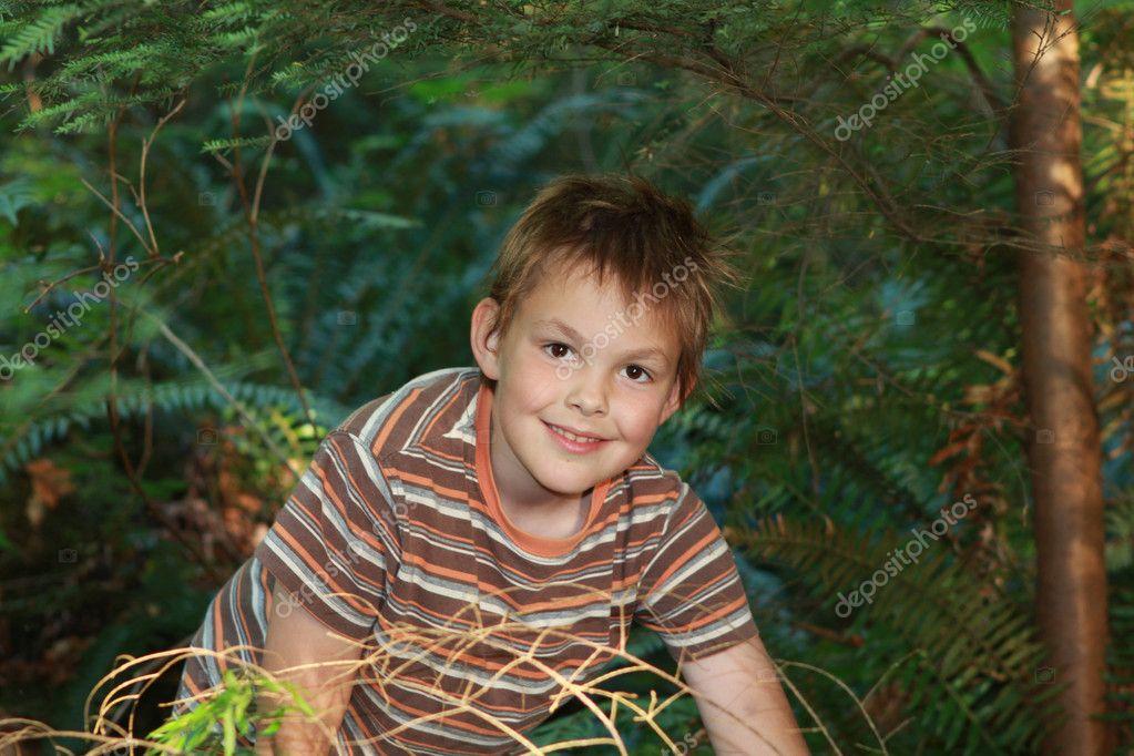 可爱微笑的男孩玩 — 图库照片08irina