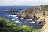 Coast of britain,finistère — Stock Photo