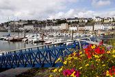 Audierne, britain port landscape — Stock Photo