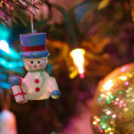 Christmas tree toy - the snowman — Stock Photo