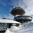 Astronomical observatory and hostel on the big mountain during the winter — Stock Photo