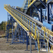 Conveyor belt in quarry — Stock Photo #7916287