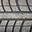 Old dirty used tyre texture — Stock Photo