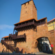Stock Photo: Old gate tower in city walls. It is part of old fortification in Namyslow