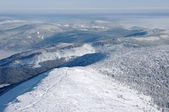 Hills panorama during the winter — Stock Photo