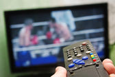 Boxing fight and remote control — Foto de Stock