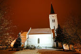 Strange mystics church at the middle of night — Stockfoto