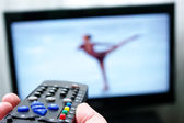 Remote control and skate dancing — Stockfoto