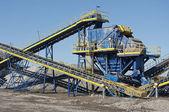 Conveyor belt in the quarry — Stock Photo