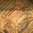 Abstract wooden texture with hobnails — Stock Photo