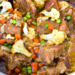 Fricassee with cauliflower, green peas and carrots — Lizenzfreies Foto