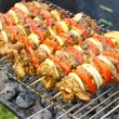 Stock Photo: Shashlik preparation