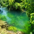 Emerald water in national park Krka, Croatia - Stock Photo