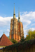 Cathedral in Wroclaw on Tum Island, Poland — Stock Photo