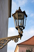 Old gas lantern on the wall — Stock Photo