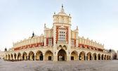 Sukiennice building in Krakow in strange perspective, Poland — Stock Photo