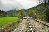 Railway track after the rain — Stock Photo
