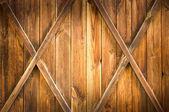 Houten deur met twee kruisen — Stockfoto