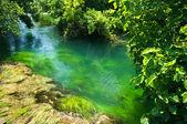 Emerald water in national park Krka, Croatia — Stock Photo