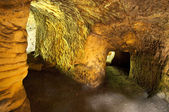 Caves under the ruins of Rotstein castle in Bohemian Paradise — Stock Photo