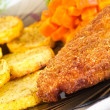 Stock Photo: Parmesbreaded chicken breast