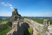 Ruins of Trosky castle in Bohemian Paradise — Foto de Stock